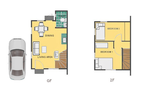 Mika Floor Plan House and Lot in Toril