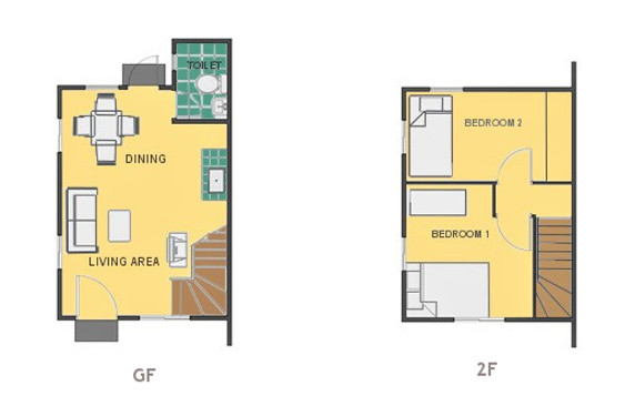 Mikaela Floor Plan House and Lot in Toril