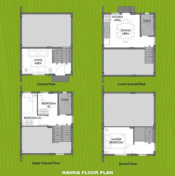 Hanna Floor Plan House and Lot in Toril