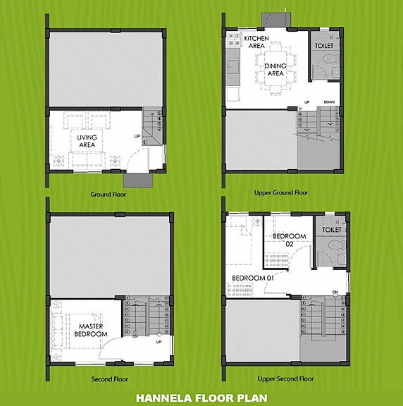 Hannela Floor Plan House and Lot in Toril