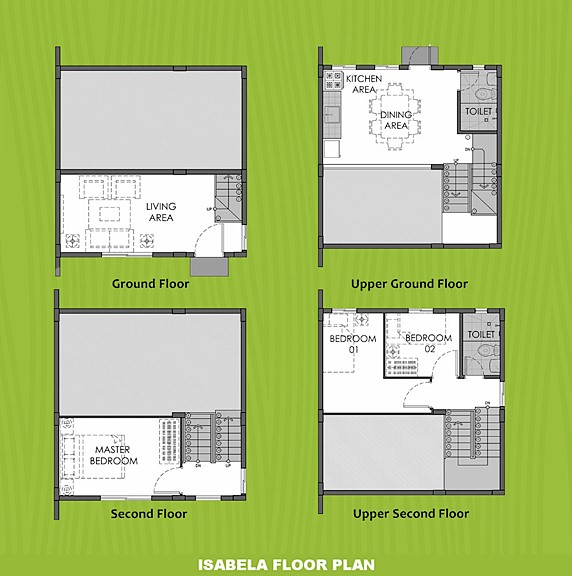 Isabela Floor Plan House and Lot in Toril