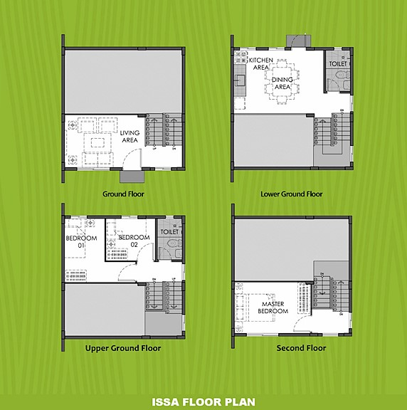 Issa Floor Plan House and Lot in Toril