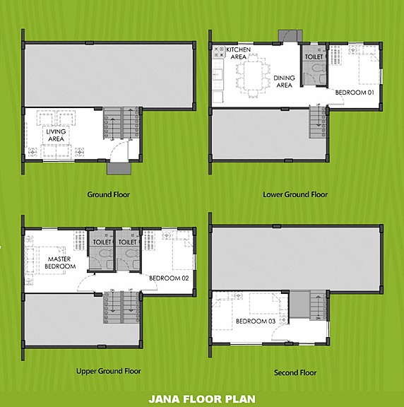 Janna Floor Plan House and Lot in Toril