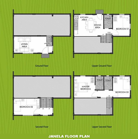 Janela Floor Plan House and Lot in Toril