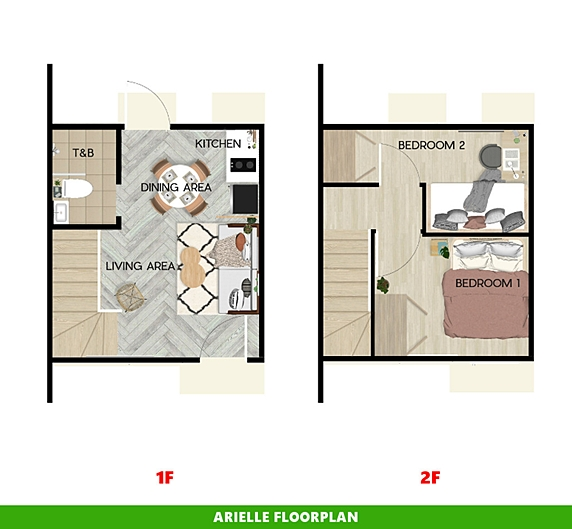 Arielle Floor Plan House and Lot in Toril