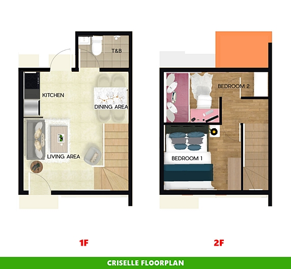 Criselle Floor Plan House and Lot in Toril