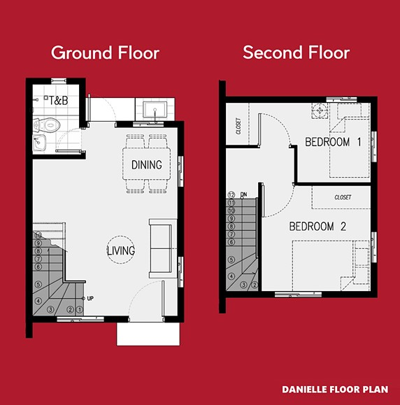 Danielle Floor Plan House and Lot in Toril