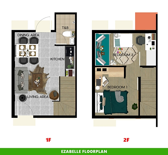 Ezabelle Floor Plan House and Lot in Toril