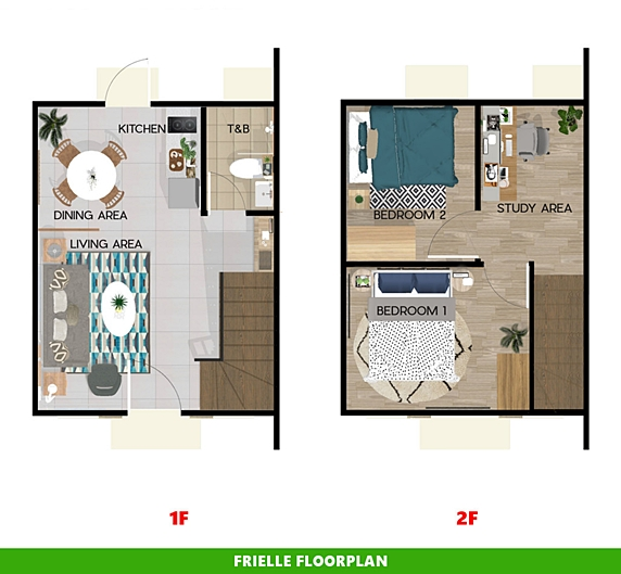 Frielle Floor Plan House and Lot in Toril